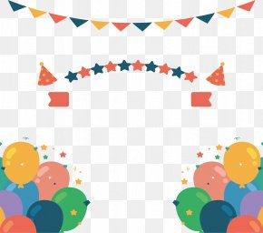 Birthday Party Decorative Balloon Banner - Euclidean Vector Birthday Party PNG