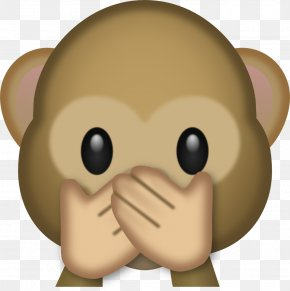 Evil Monkey Cliparts - The Evil Monkey Emoji Three Wise Monkeys Clip Art PNG
