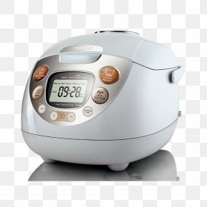 White Rice Cooker - Rice Cooker Philips Multicooker Food Steamer Cooking PNG