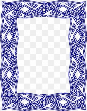 Free Blue Borders And Frames - Picture Frame Clip Art PNG