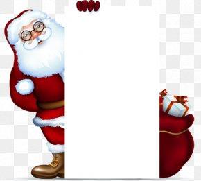 Santa Claus Gift Tag Promotions - Santa Claus Christmas Gift Clip Art PNG