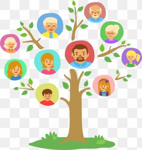 Lush Family Tree - Family Tree Genealogy Clip Art PNG