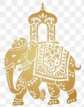 Decorative Indian Elephant Transparent Clip Art Image - Indian Elephant Elephant Festival Clip Art PNG