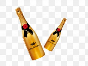 Champagne - Champagne Beer Wine Bottle PNG