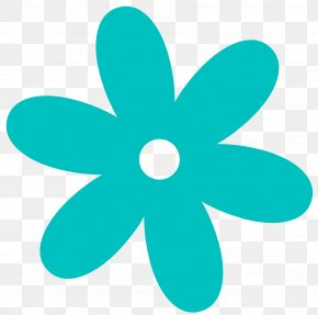 Turquoise Flower Cliparts - Flower Free Content Clip Art PNG