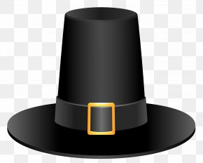 Black Pilgrim Hat Picture - Pilgrim's Hat Thanksgiving Clip Art PNG