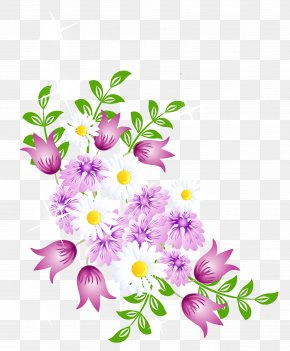 Flowery Border Cliparts - Flower Spring Clip Art PNG