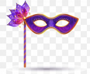Dance Mask Feather Vector - Carnival Of Venice Mask Euclidean Vector PNG