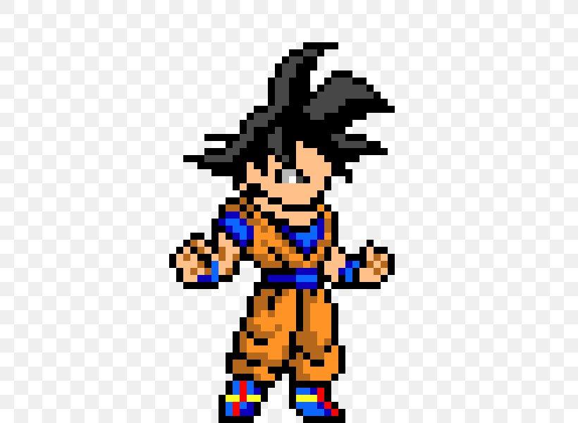 Goku Pixel Art Dragon Ball Png 460x600px Goku Animated