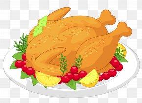 Thanksgiving Turkey Diner Clipart - Turkey Sunday Roast Roast Chicken Roasting PNG