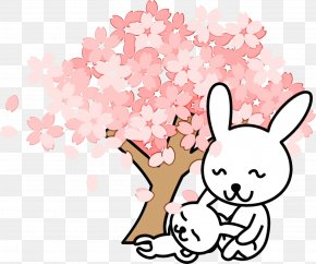 Easter Bunny Plant - Easter Bunny Cartoon PNG