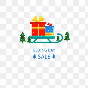 Sleigh Gift - Gift Sled Box PNG