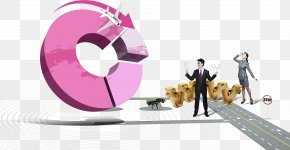 Three-dimensional Chart And Business People - Pie Chart Three-dimensional Space Statistics PNG