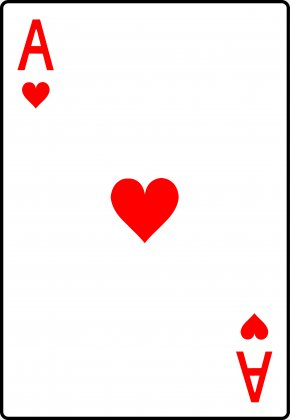 Heart Playing Cards - Playing Card Ace Of Hearts One-card Suit PNG