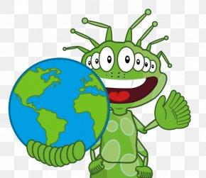 Holding Earth - Tree Frog School Training Teacher Clip Art PNG
