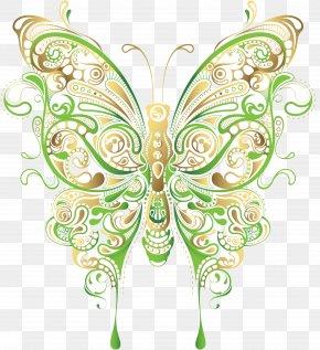 Cool Designs - Butterfly Flower Floral Design Clip Art PNG