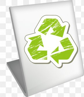Green Flag Vector Material - Logo Recycling Brand PNG