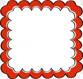Health Frame Cliparts - Picture Frame Scallop Scrapbooking Clip Art PNG
