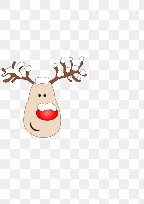 Reindeer Noses Cliparts - Reindeer Rudolph Clip Art PNG