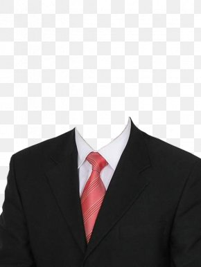 Black Suit And Red Tie - Suit Formal Wear Clothing Dress Necktie PNG