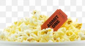 Popcorn - Cinema Film Screening Gift Card Ticket PNG