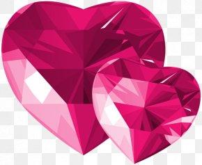 Pink Diamonds - Heart Desktop Wallpaper Clip Art PNG