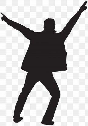 Dancing Man Silhouette Clip Art Image - Dance Clip Art PNG