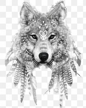 Wolf - Gray Wolf Tattoo Ink Drawing Sleeve Tattoo PNG