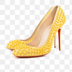 Yellow Orange Thin Heels - Shoe High-heeled Footwear Stiletto Heel Dress Yellow PNG
