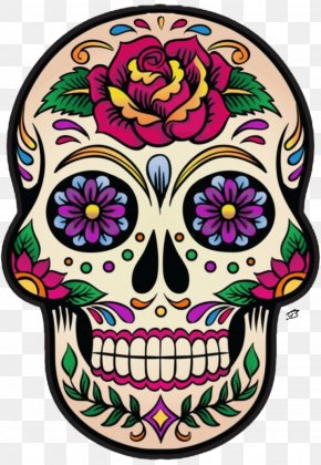 Skull - La Calavera Catrina Mexico Skull And Crossbones Day Of The Dead PNG