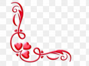 Valentine Corner Cliparts - Valentines Day Heart Picture Editor Clip Art PNG
