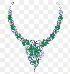 Hand-painted Necklace - Jewelry Design Jewellery Gemstone PNG