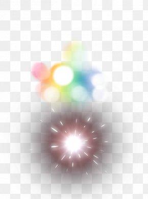 Color Light Fireworks Halo Effect Element - Light Halo PNG