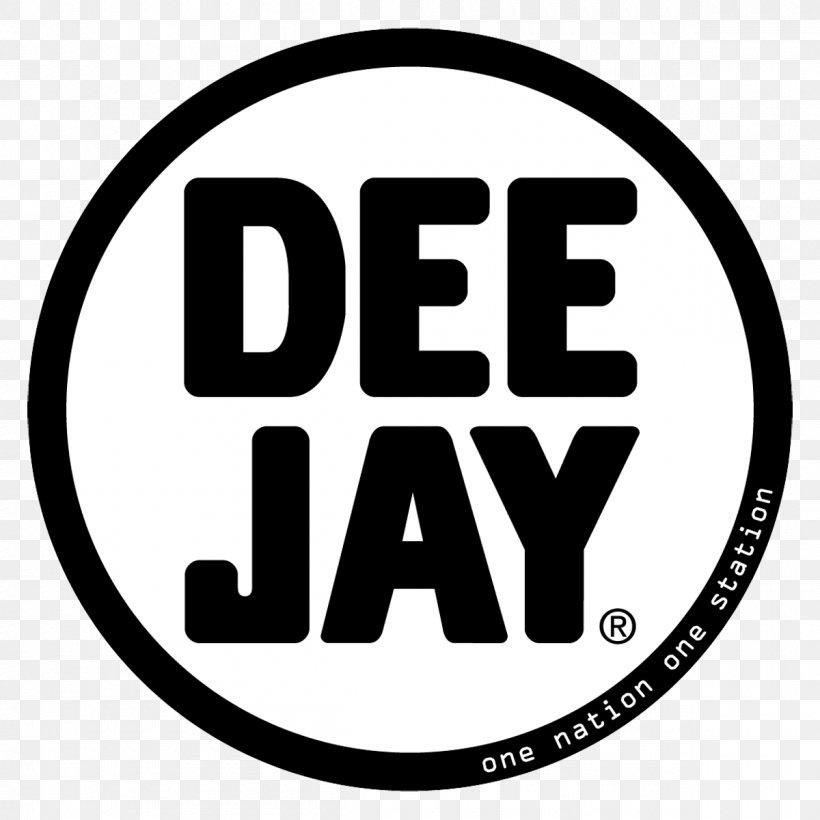 Logo Radio DeeJay Disc Jockey Font, PNG, 1200x1200px, Logo, Area, Black And White, Brand, Disc Jockey Download Free