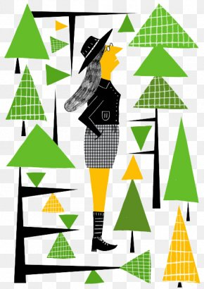 Cartoon Trees And Women - Drawing Trees Clip Art PNG