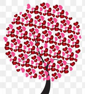 Love Heart Treer Clip Art Image - Heart Love Clip Art PNG