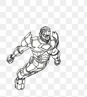 The Flying Iron Man - Iron Man Coloring Book Child PNG
