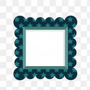 Vector Blue Print Star Square Frame - Euclidean Vector Márgenes Color Blue Square PNG