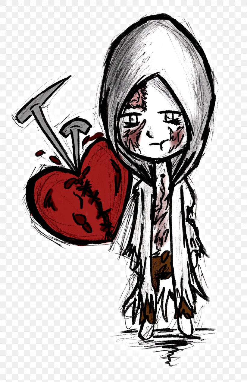 The Evil Within Drawing Art Sketch, PNG, 1024x1583px, Watercolor, Cartoon, Flower, Frame, Heart Download Free