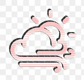 Pink Wind Icon - Cloud Icon Day Icon Forecast Icon PNG