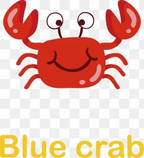 Cute Little Crab Vector - Crab Cartoon Clip Art PNG