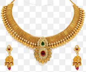 Necklace - Earring Necklace Jewellery Gold Jewelry Design PNG