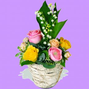Lily Of The Valley - Garden Roses Lily Of The Valley Cut Flowers Floral Design PNG