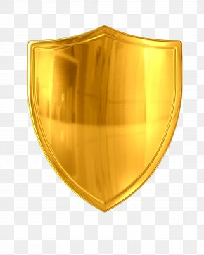Metallic Shield - Shield Sword Gold Photography PNG