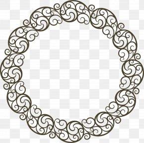Black Line Wreaths - Black Disk PNG