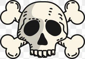Skull - Skull And Crossbones Jolly Roger Clip Art Illustration PNG