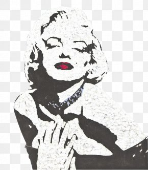 Monroe Eyes Closed Slightly - Poster Pop Art Painting Celebrity PNG