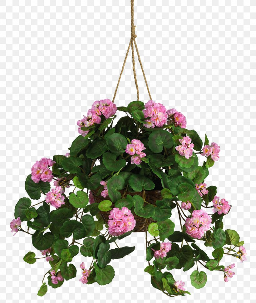 Hanging Basket Artificial Flower Silk Crane's-bill, PNG, 1024x1213px, Hanging Basket, Annual Plant, Artificial Flower, Basket, Busy Lizzie Download Free