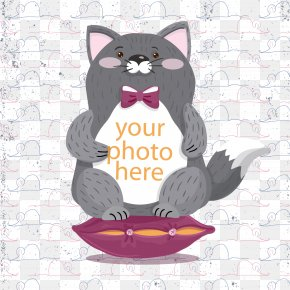 Cute Gray Cat Vector - Cat Kitten Drawing Cuteness PNG
