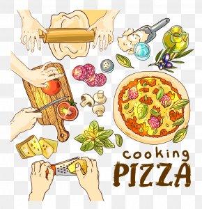 Making Pizza - Hawaiian Pizza Ham Fast Food Italian Cuisine PNG